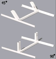 Holders for paper target 45°